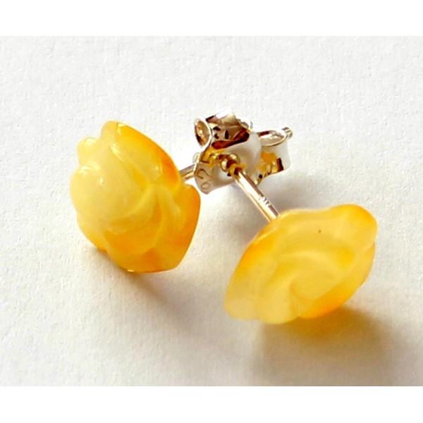 Amber-silver-earring